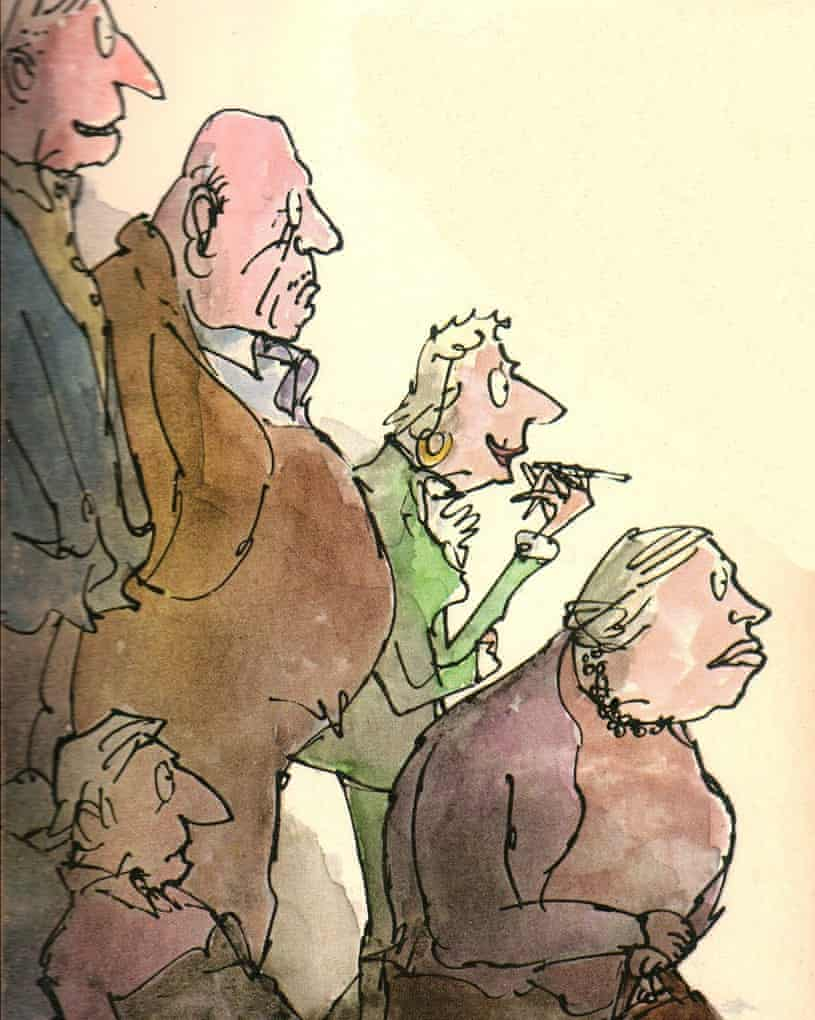 Quentin Blake's cover illustration for Ending Up.