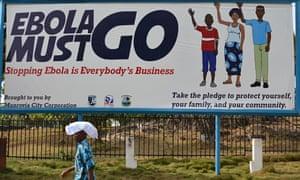 An Ebola campaign poster in Monrovia, Liberia