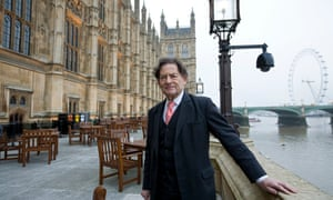 Lord Lawson outside parliament