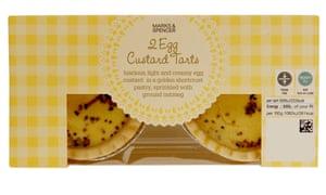 M&S egg custard tarts