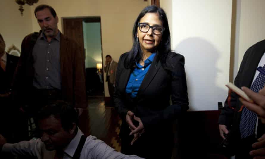 Venezuela's Foreign Relations Minister Delcy Rodriguez