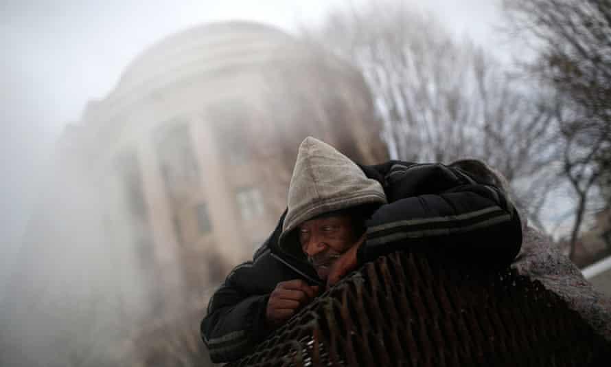 homeless man streets DC