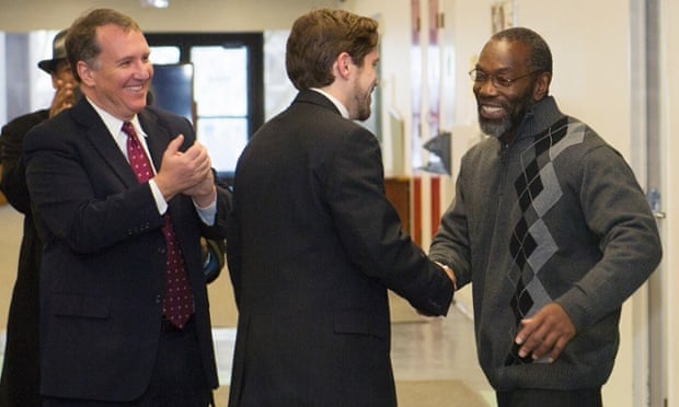 Ricky Jackson leaving jail in 2014.