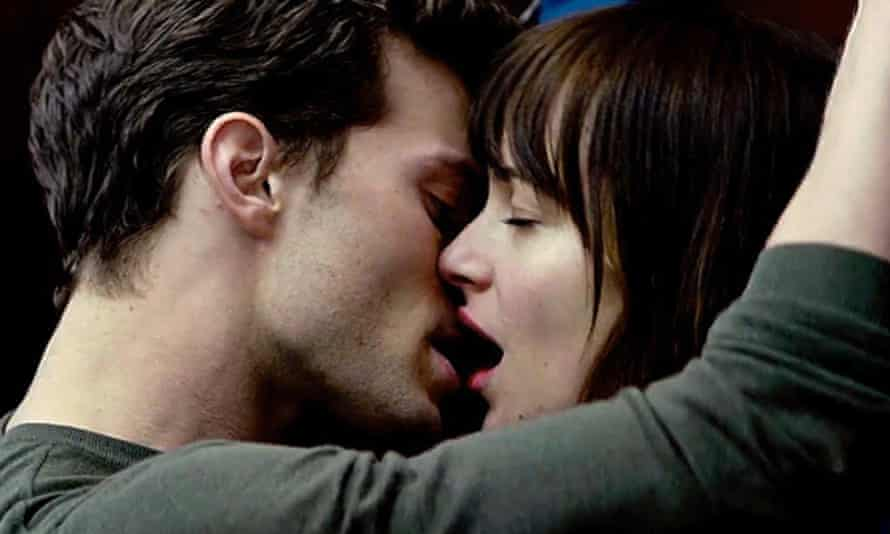 The ties that bind: with Dakota Johnson in Fifty Shades of Grey.