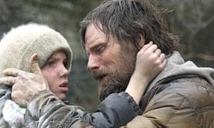 Kodi Smit-McPhee and Viggo Mortensen in The Road, released in 2009.