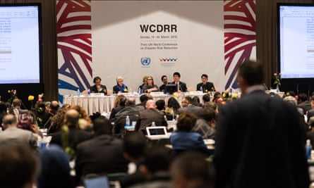 U.N. World Confenence on Disaster Risk Reduction in Sendai, Miyagi