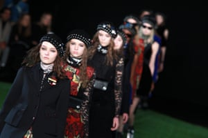 Models on the Marc By Marc Jacobs autumn/winter 2015 catwalk