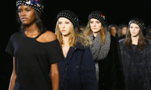Models at the Marc By Marc Jacobs show last month