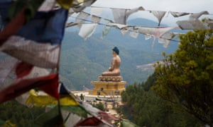 In Thimphu, an enormous Buddha overlooks the capital.