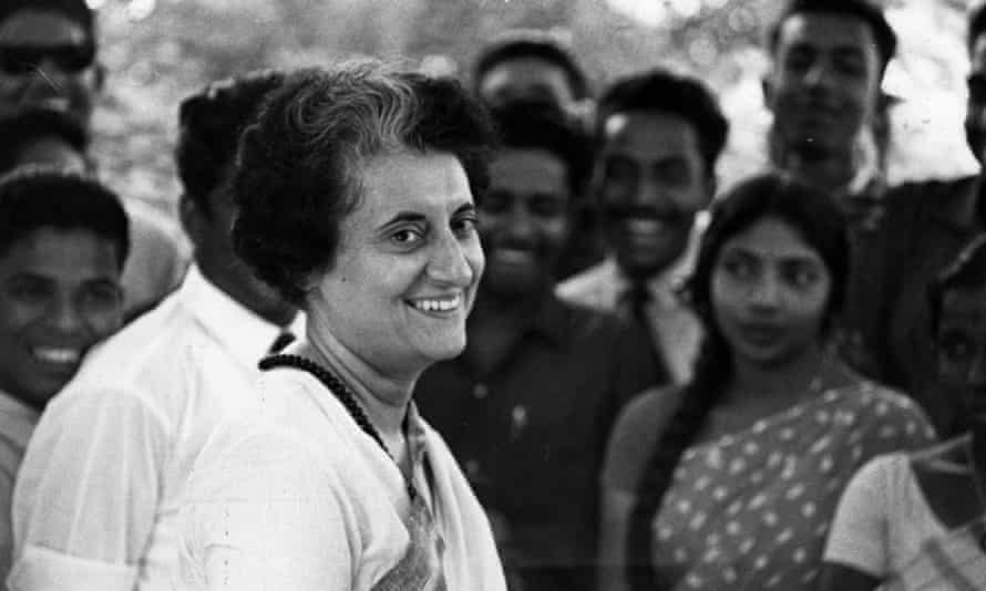 Mrs Indira Gandhi.
