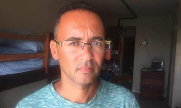 Dorgival Ornelas de Silva, a former scaffolder at the refinery construction site at Itabora, has not been paid for four months and is struggling to make ends meet. HIs free accommodation at the Workers Hostel will end this month.