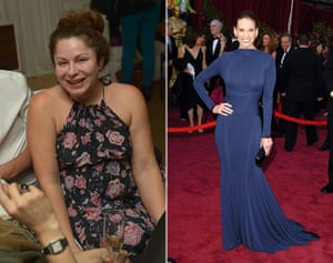 Jessica Pastor with Hilary Swank wearing Guy Laroche at the 2005 Oscars. Pastor also works with Felicity Blunt and Elle Fanning