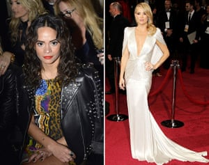Sophie Lopez and Kate Hudson in Versace at the Oscars