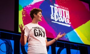 Political commentator and lawyer Sally Kohn leads a TEDYou session.