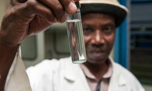 Water is tested and made safe for drinking in Nairobi.