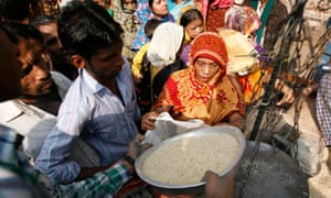 Rice for sale in Panthapath, Dhaka, Bangladesh
