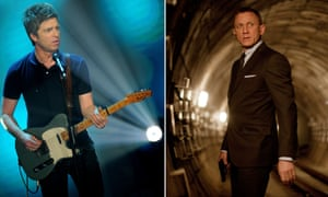 Noel Gallagher and Spectre star Daniel Craig.