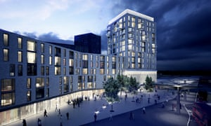 Tottenham Hale: architects Landolt + Brown's scheme for the new station with housing above.