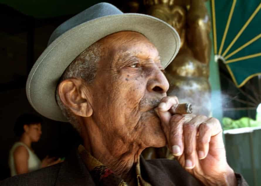 Buena Vista Social Club musician Francisco Repilado, known as Compay Segundo, aged 94 in 2001