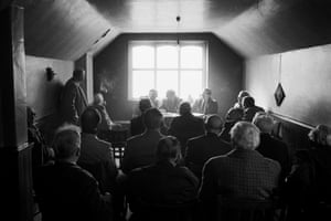 The Ancient Order of Henpecked Husbands annual general meeting, Easter Monday, Nasebottom Chapel, Calderdale