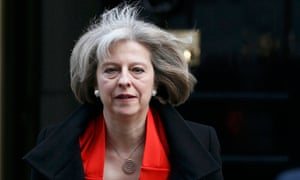 Britain's Home Secretary Theresa May leaves 10 Downing Street in central London