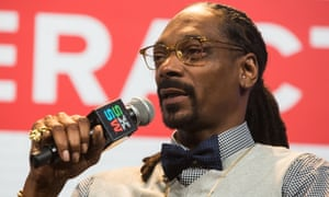 Snoop Dogg delivers keynote speech at Austin Convention Centre.
