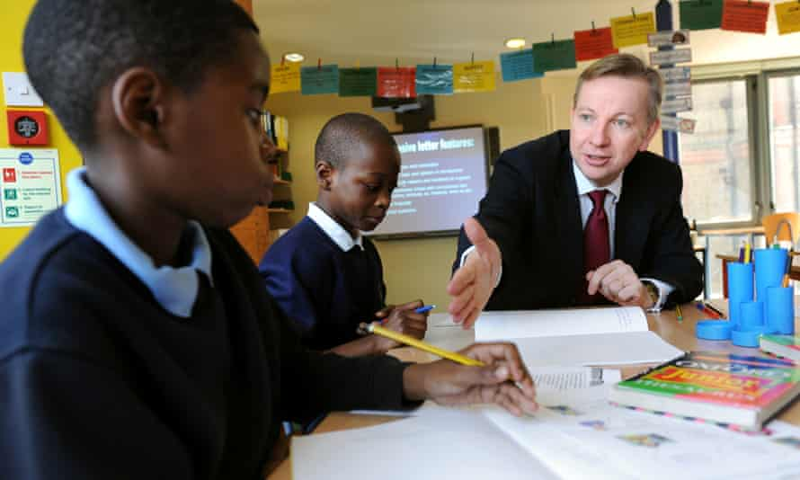 Michael Gove at Durand Academy primary school