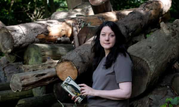 Helen Macdonald, author of H is for Hawk, in Elveden Forest, Norfolk.