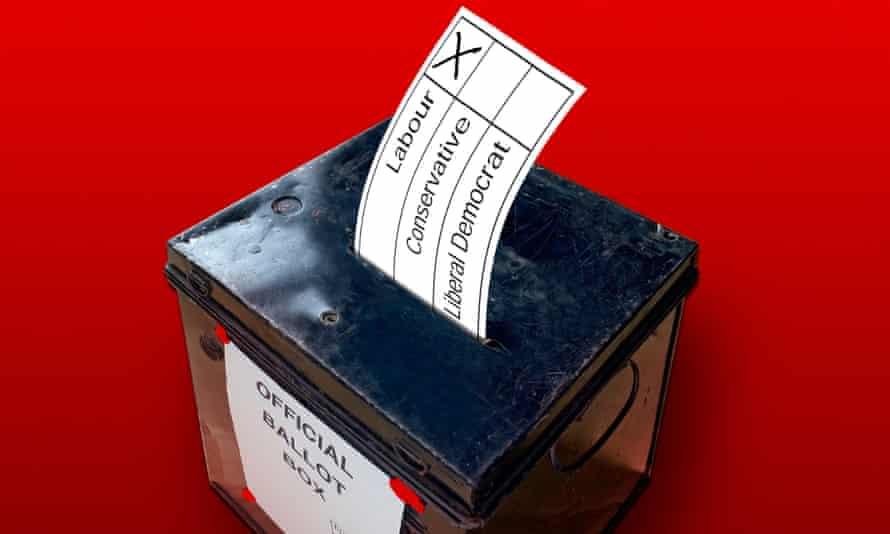 General election ballot box.