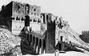 The citadel's outer and inner gateways, built by Saladin's son Sultan al-Zaher Ghazi in the 12th century.