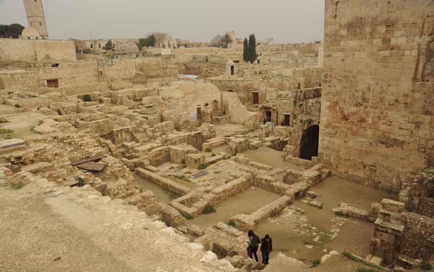 View inside the citadel of Aleppo in January 2011.