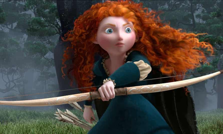 Merida from the animated film Brave, who refused to marry the prince.
