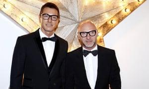 Stefano Gabbana (left) and Domenico Dolce.