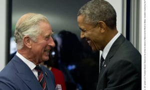 The prince and the president. Charles and Barack Obama.