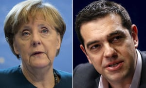 German chancellor Angela Merkel and Greece's prime minister Alexis Tsipras are due to meet in Berlin on Monday.
