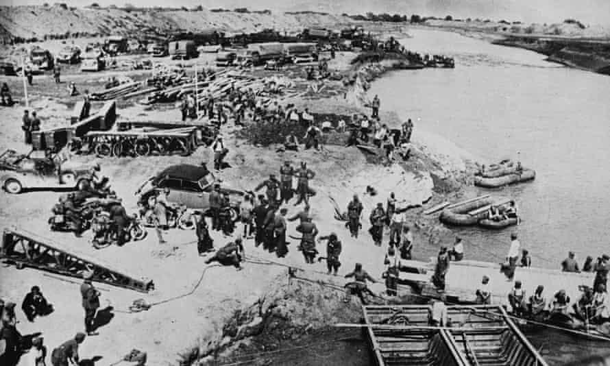 Germany's invasion of Greece near Larissa on 19 April 1941.