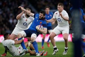 England players tackle Yoann Maestri