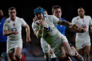 Jack Nowell got the better of the French defence, scoring two tries in the second half