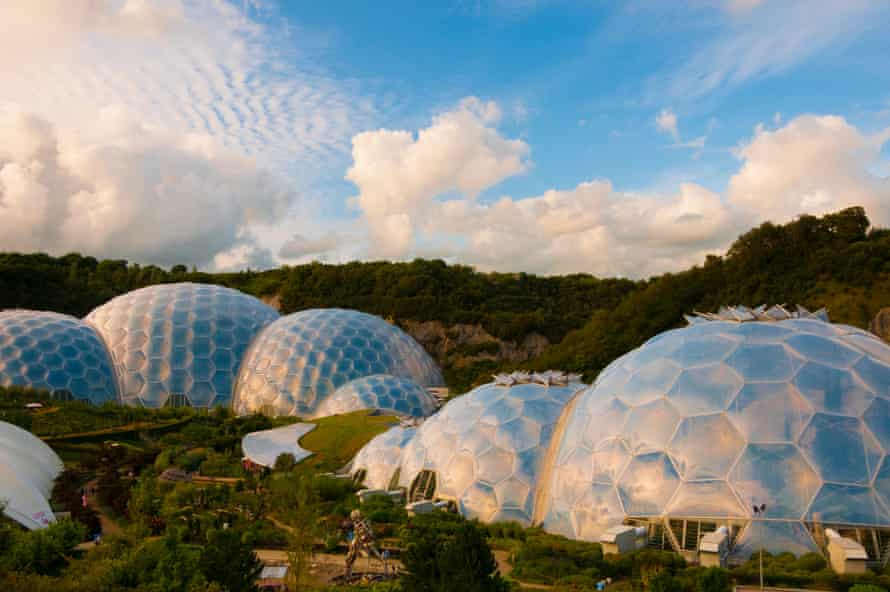 Biomes at the Eden Project in Cornwall