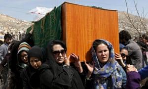 Women's rights activists carry Farkhunda's coffin.
