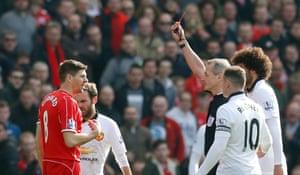 Gerrard's sent off.
