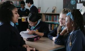 Pupils at the Gladesmore School Tottenham