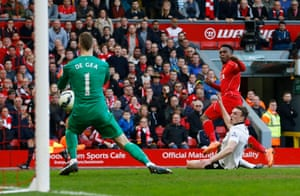 Daniel Sturridge scores the first goal.