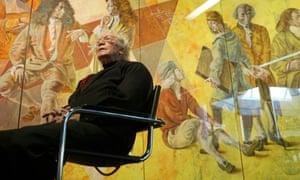 Swiss artist Hans Erni in his museum in Lucerne in 2004.