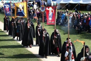 Members of the King's Guard attend the ceremony.