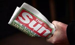 A copy of the Sun newspaper