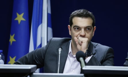 Alexis Tsipras, pictured at a press conference in Brussels on Friday, is to meet Angela Merkel on Monday.
