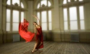 Dancer in a red dress
