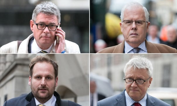 The four Sun journalists who were acquitted of bribing public officials.