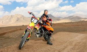 Iranian female motorcyclist Behnaz Shafiei.